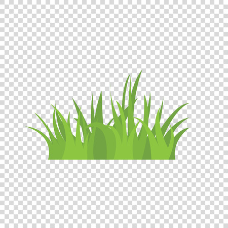 Tufts of grass. A set of design elements of nature. Vector illustration. Vettoriali