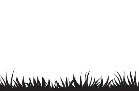 Touffes d'herbe noires. Un ensemble d'éléments de conception de la nature. Illustration vectorielle. Vecteurs