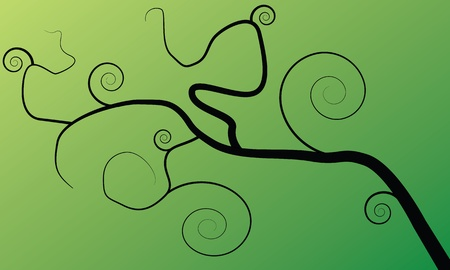lenght: tree on the green background Stock Photo