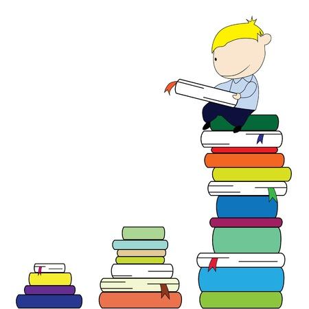 study concept: Reading boy