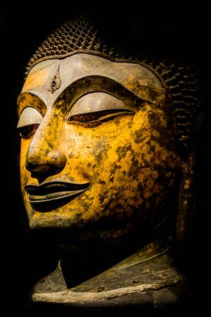 cabeza de buda: Antigua de metal la cabeza de Buda