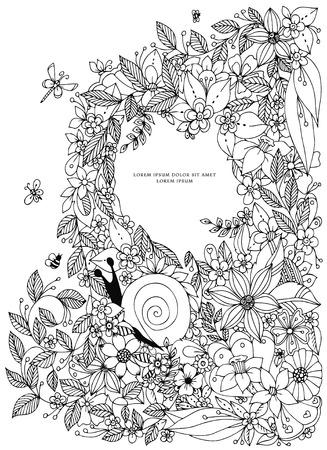 Marco De Frontera De Seashell, Patrón Del Océano. Ilustración ...