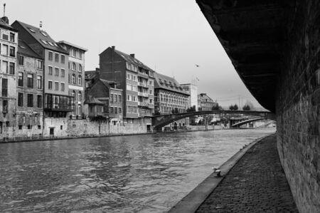wallonie: Along the river in Namur,Belgium