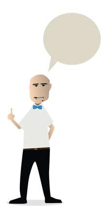 arbitros: boxeo vector de dibujos animados de árbitro con espacio de mensajes de texto Vectores