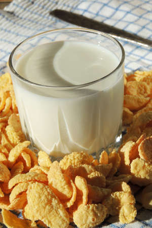 cowardly: Corn flakes with milk. For Breakfast