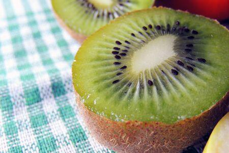nourish: close up of a healthy kiwi fruit Stock Photo