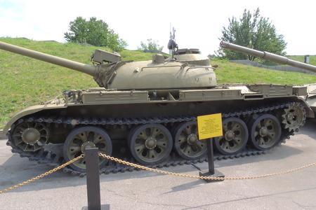 reenacting: KIEV, UKRAINE : View of ukrainian and soviet tank in the war museum Editorial