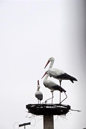statute: Bird decoration . Statute birds Statute birds Stock Photo