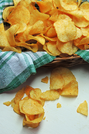 generalization and factors that affect the freshness of potato chips Americans, on average, eat 55 lbs (35 kilograms) of frozen potatoes per year, 42 lbs (19 kg) of fresh potatoes, 17 lbs (8 kg) of potato chips and 14 lbs (6 kg) of dehydrated potato products.