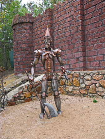 ferrous: Monument to the ferrous man from a fairy-tale lumberjack