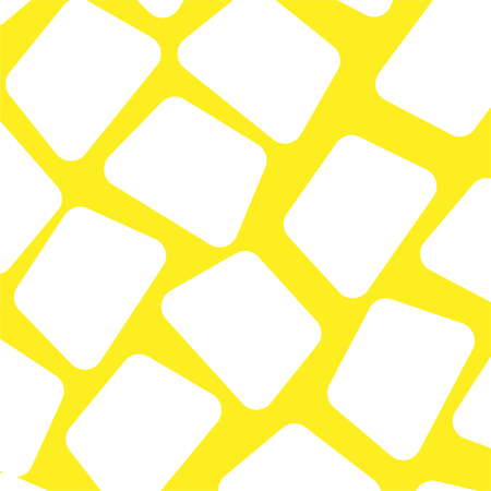 abstract background of white elements on a yellow background. Vector illustration. Illustration