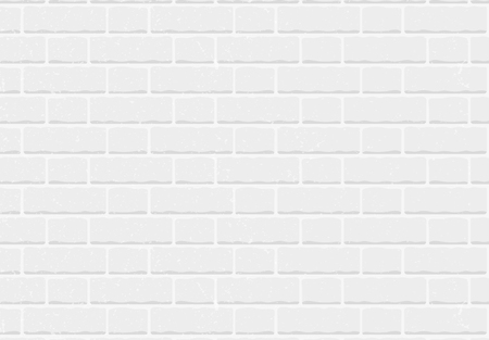 Seamless pattern white brick wall vector background. EPS 10 Vector