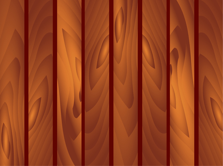 Vector EPS 10 Wooden brown Planks Background. Garden fence, fencing, guardrail. St. Patrick Day, march, spring wall wood floor texture Illustration