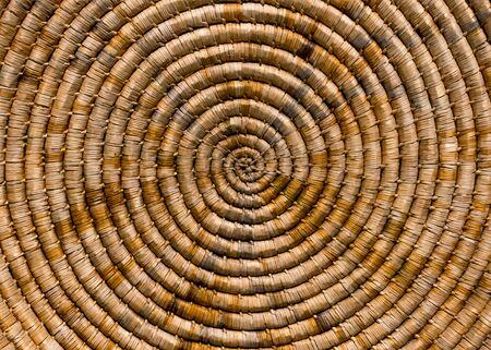 Handmade antique work weaving natural material background.