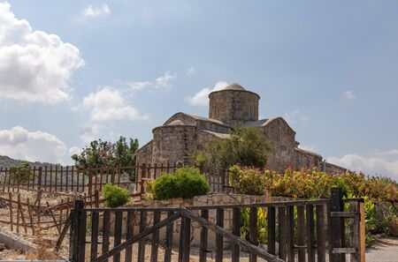 Northern Cyprus an open-air museum. Panayia Pergaminiotissa Church, a Byzantine church, dating from the 11th century. The historic building, landmark