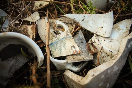Old broken dishes