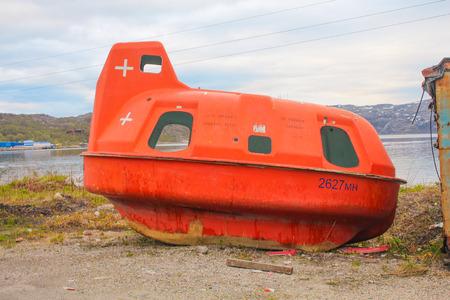 Orange submersible