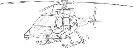 Realistic helicopter seamless pattern sketch template. Cartoon vector illustration for games, background, pattern, decor. Print for fabrics and other surfaces. Coloring paper, page, story book