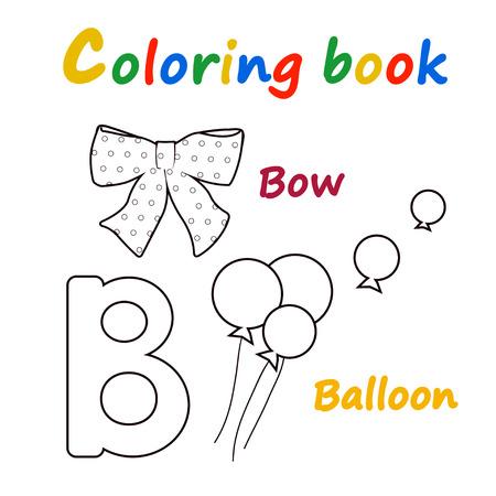 Vector illustration of Alphabet coloring book to educate preschool kids