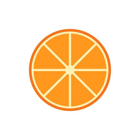 Orange slice icon fruits isolated on white backgroung. Vector illustration