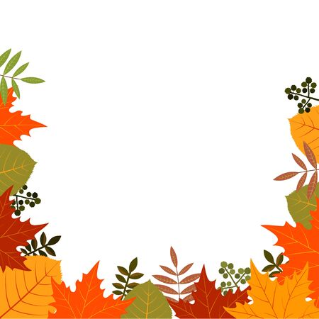 Autumn composition with place for your text. Vector illustration