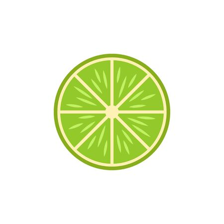 Lime isolated on white background. Vector illustration