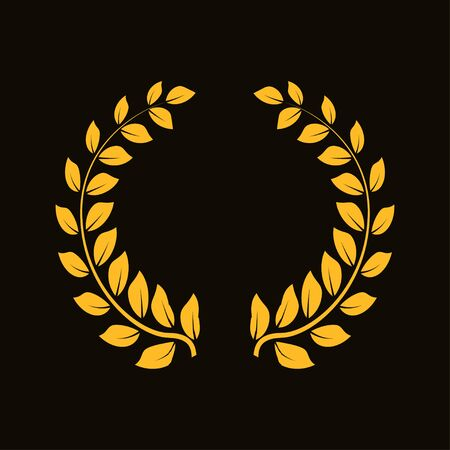 Award icons. Web site. Laurel wreath isolated on dark background. Vector illustration Illusztráció