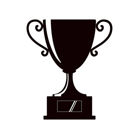 Award icons. Web site. Silhouette of trophy cup on white background. Vector illustration