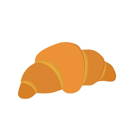 Bakery products. Simple croissant on white background. Vector illustration