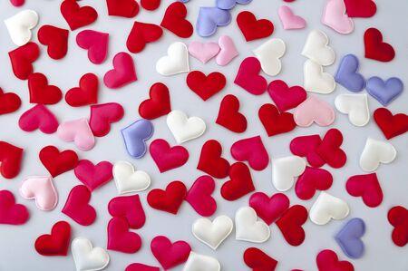 Multi-colored hearts. Valentines Day