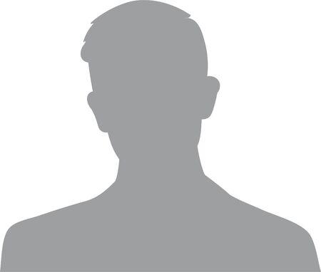 Icône de profil d'avatar homme dessiné à la main, moderne (ou icône de portrait). Icône d'avatar plat utilisateur, signe, symbole masculin de profil