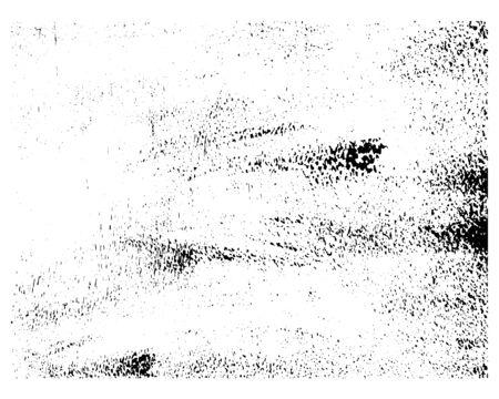 Fondo sucio áspero de Grunge. Textura de superposición negra. Ilustración vectorial. Aislado en blanco. Ilustración de vector
