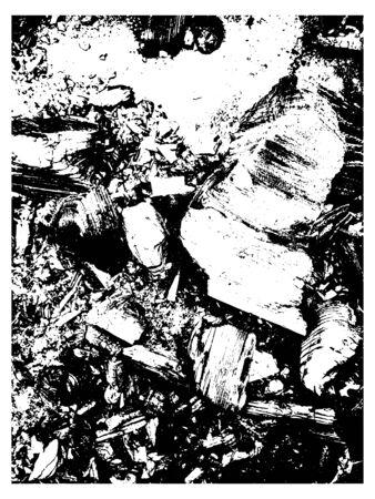 Grunge overlay texture. Dirty grain dust stone vector  background. Ilustração