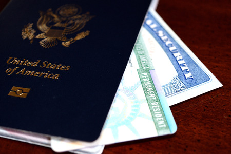 passport, ssn and green card