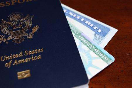 social security number card or ssn Stok Fotoğraf