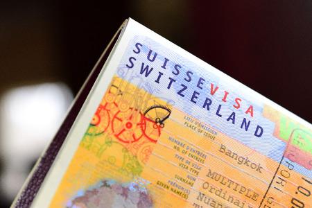 Switzerland visa Stok Fotoğraf
