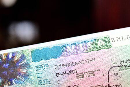 Visado Schengen Foto de archivo - 72958719