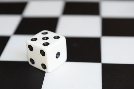 dice board Stok Fotoğraf