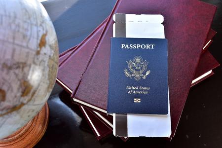 usa passport Stok Fotoğraf