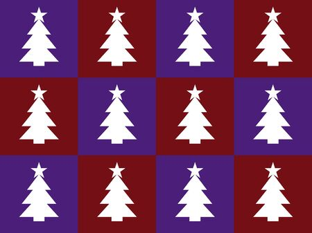 violet red: violet and red bacground with christmas trees Illustration