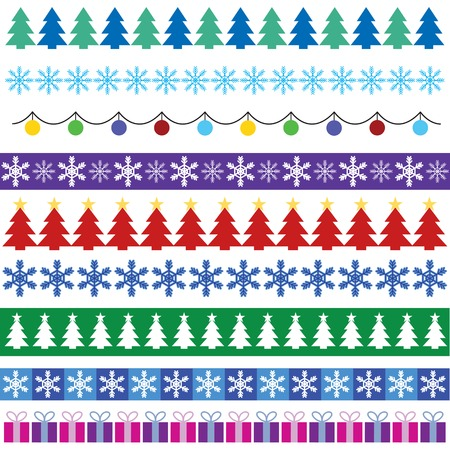 christmas decorations with white background: cristmas borders