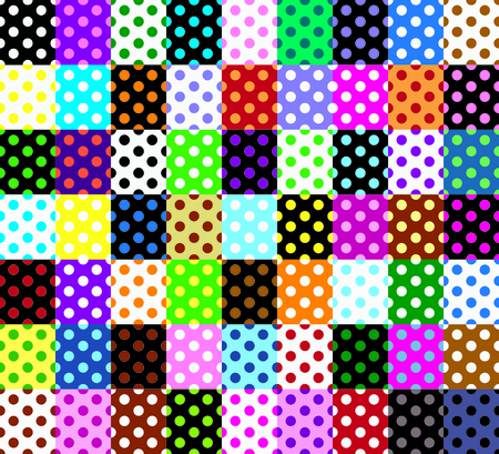 Polka dots, seamless patterns Stock Vector - 25255366