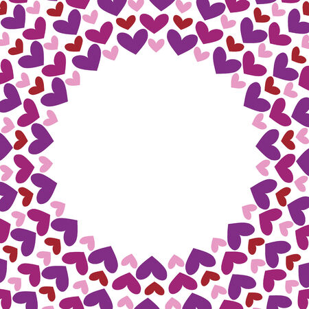Round frameRound frame with hearts with hearts Vector