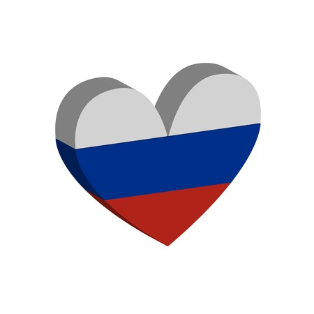 russian flag: hart Russian flag. Vector illustration