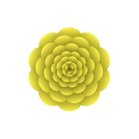 yellow flower Ilustracja