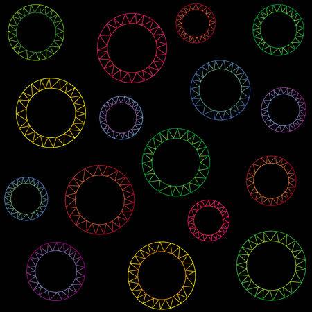 Abstract seamless pattern. Vector illustration Ilustracja