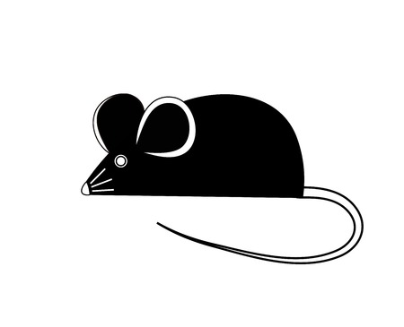 Black mouse  Vector illustration Vector