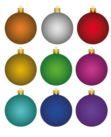 Colorful christmas balls Ilustracja