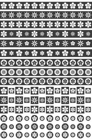 Black and white floral ornaments. Ilustracja