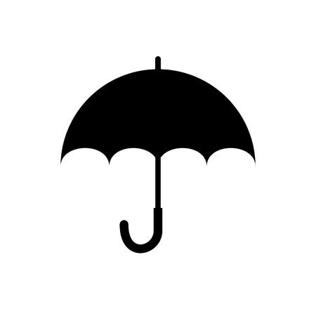 silhoette: umbrella silhoette Illustration